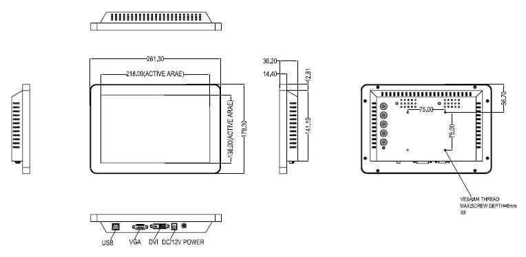 【10.1型】タッチパネルモニター「OTL101」